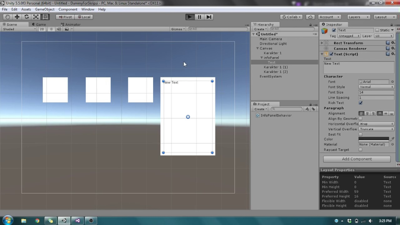 TaufiqTab Unity Indonesia Tooltip UI OnMouseOver Tutorial