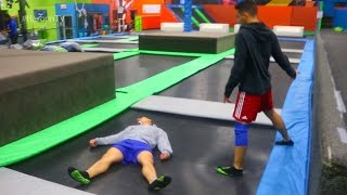 WWE MOVES AT THE TRAMPOLINE PARK(Well this was fun...10000 LIKES FOR PART 2! We can do this peeps :D Make sure to LIKE this video, SHARE IT and SUBSCRIBE for more! Follow us on social ..., 2016-10-29T12:33:34.000Z)