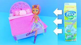 как сделать коробку кровать барби