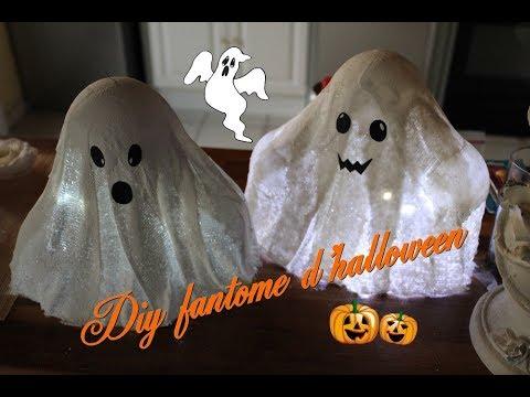 Diy comment faire des fant mes d 39 halloween en bande de pl tre pour d corer votre maison - Comment dessiner un fantome pour halloween ...