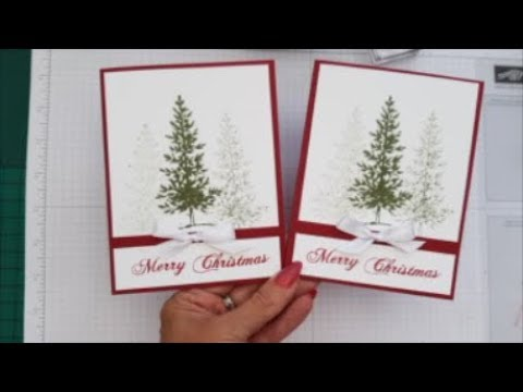 Xmas Stamp A Stack Xmas Card 3 Lovely As A Tree Case