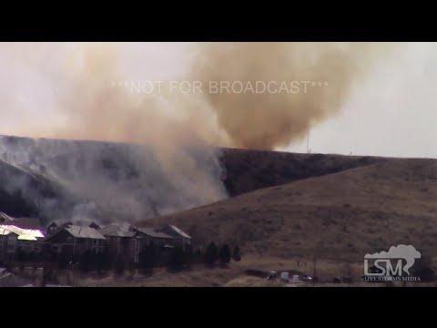 2-19-16 Superior, Colorado Grass Fire - Smoke Tornado Feature!