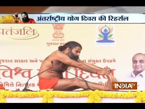 Baba Ramdev holds Yoga camp in Ahmedabad ahead of International Yoga Day