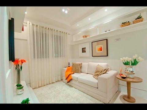 Dicas para fazer uma sala pequena parecer maior youtube - Como decorar un apartamento pequeno ...