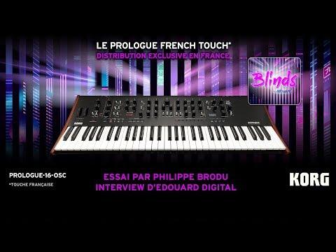Test du KORG PROLOGUE OSC-16 par Philippe Brodu et Edouard Digital (vidéo de La Boite Noire)