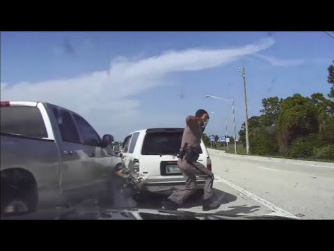 Florida-trooper-nearly-hit-in-scary-I-95-crash