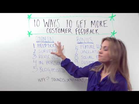 Top Ten Ways To get More Customer Feedback - Whiteboard Friday