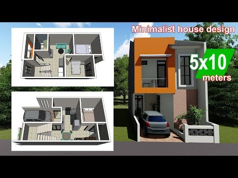 Rumah Minimalis 5 X 10 Meter + Interior Design