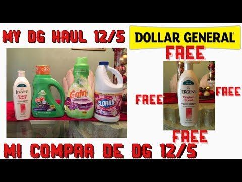 My dollar general haul 12/5 Free💰🤑 Jergens/mi compra de DG Jergens gratis