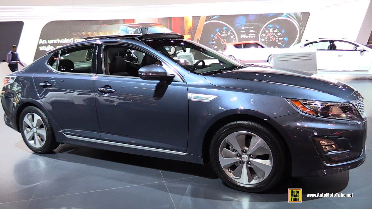 2015 KIA Optima Hybrid EX   Exterior And Interior Walkaround   2015 Chicago  Auto Show