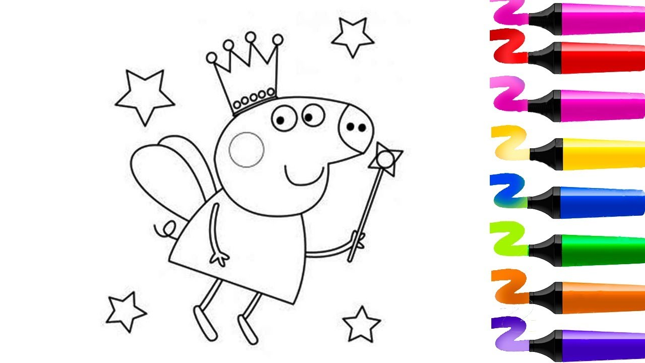 Coloriage magique coloriage peppa pig peppa pig - Coloriage peppa pig ...