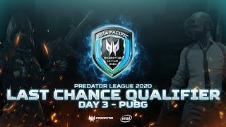 Predator League 2020 Indonesia - LAST CHANCE Qualifier Day Five (PUBG)