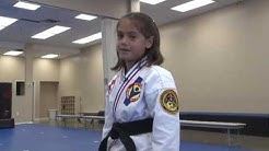 Adorable and Dangerous 9 year old Black Belt from Victory Martial Arts