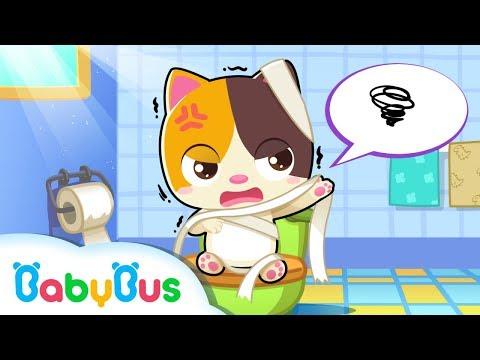 아기고양이 배변 훈련 | 혼자서 화장실 갈수 있나요? | 베이비버스 생활습관 동요 동화 | BabyBus