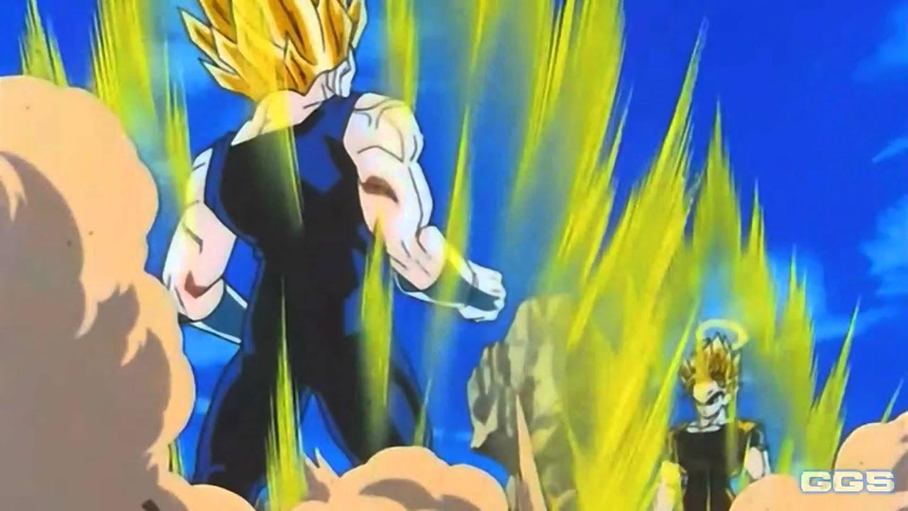 SSJ2 Goku And Majin Vegeta Power Up 2KHD