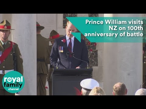 Prince William visits NZ on 100th anniversary of battle