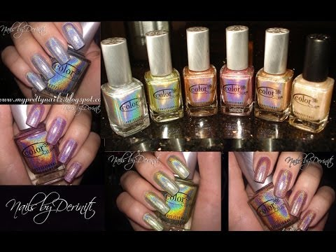 Color Club Halo Hues Holographic Nail Polish Swatches And Art Design