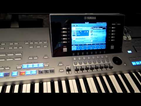 How to create a registration on Yamaha Tyros 4