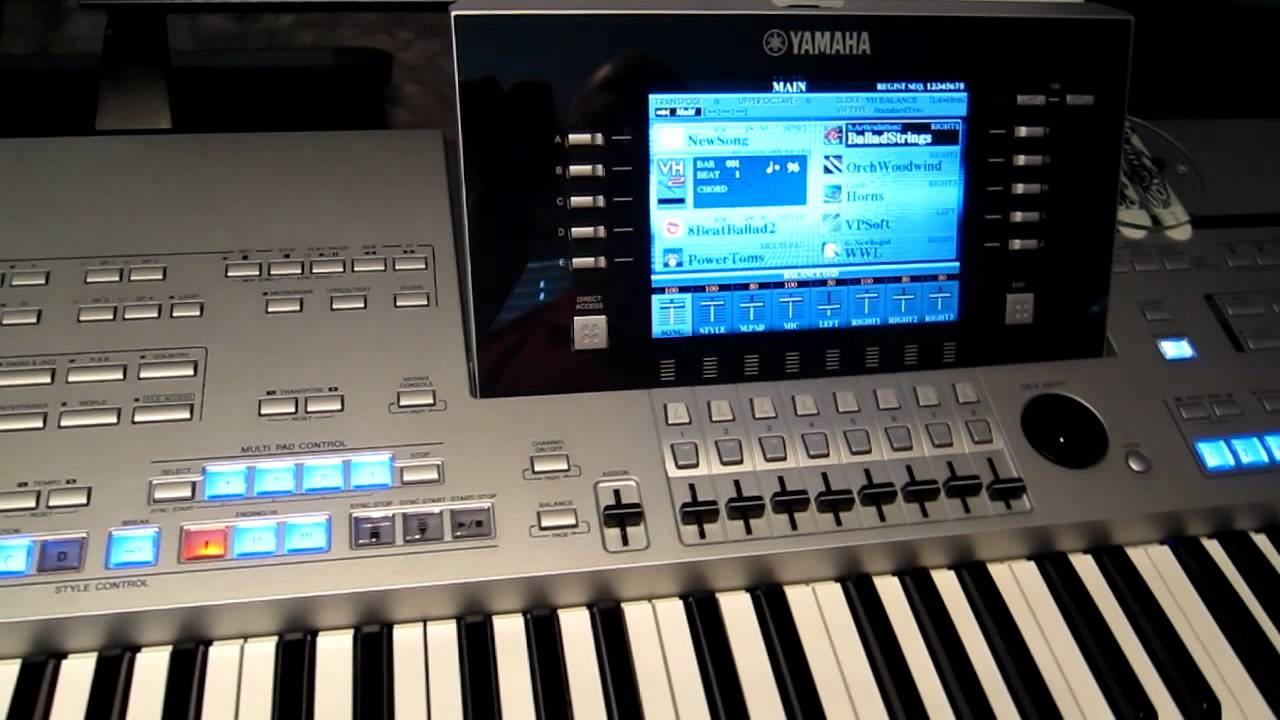 how to create a registration on yamaha tyros 4 - youtube
