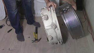 Замена подшипника в стиральной машине с неразборным баком, своими руками.