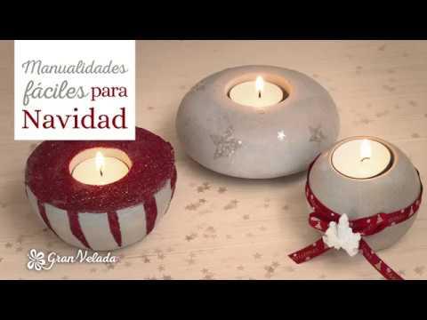 Manualidades Con Portavelas Para Navidad Youtube