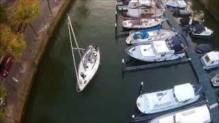 Binnenkomst zeilboot Maartensgat Dordrecht