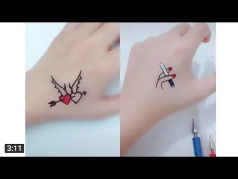 رسم أشكال غريبة على اليدين باستخدام قلم كرة جزاء اولا Youtube