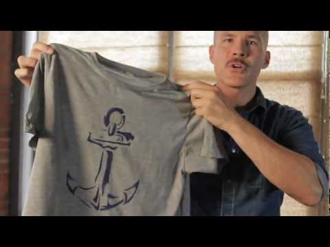 How to stencil a t-shirt with Pebeo Setacolor Paint by Ed Roth from Stencil1