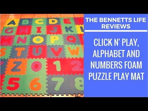 PRODUCT REVIEW | Click N' Play, Alphabet and Numbers Foam Puzzle Play Mat, 36 Tiles