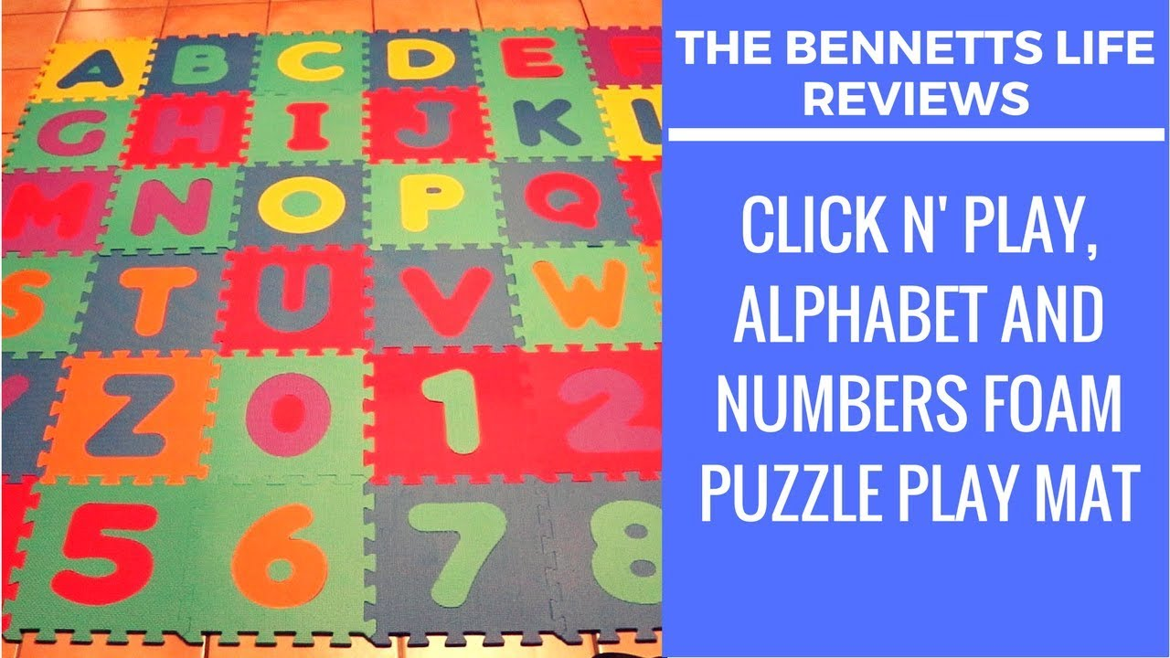 Product Review Click N Play Alphabet And Numbers Foam