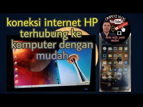 CARA BERBAGI KONEKSI INTERNET HP KE PC DENGAN KABEL USB.