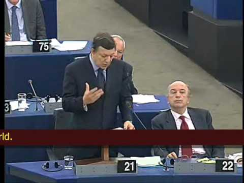 "Sarkozy calls for EU ""Economic Government""(includes: Barroso, Farage, de Villiers)"
