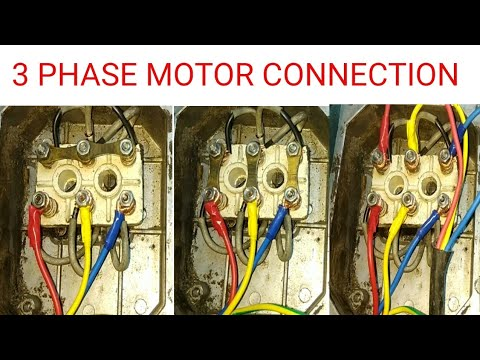 3 Phase Motor Connection Youtube
