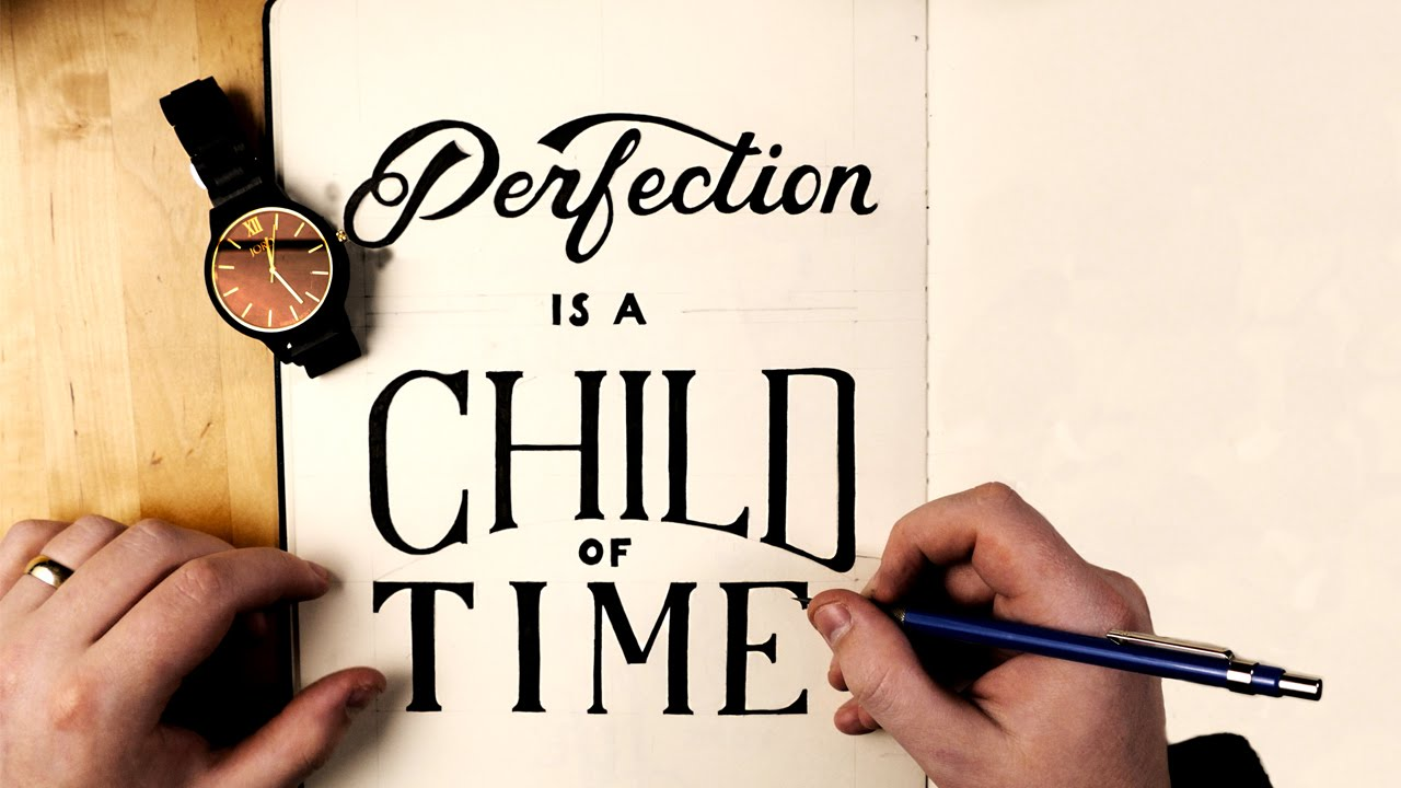 Hand Lettering Process | JORD Wood Watches