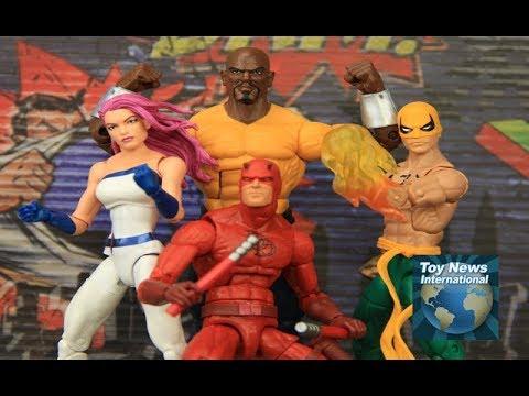 "Marvel Legends Amazon Exclusive 6"" Defenders (Daredevil, Cage, Iron Fist & Jewel)Boxset Review"