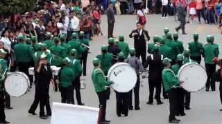 Banda de viento Secundaria Francisco Gonzalez Bocanegra, desfile 20 de Noviembre 2014 en Xicotepec