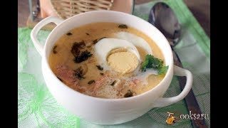 Суп из хребтов семги с яйцом и сметаной Для детей