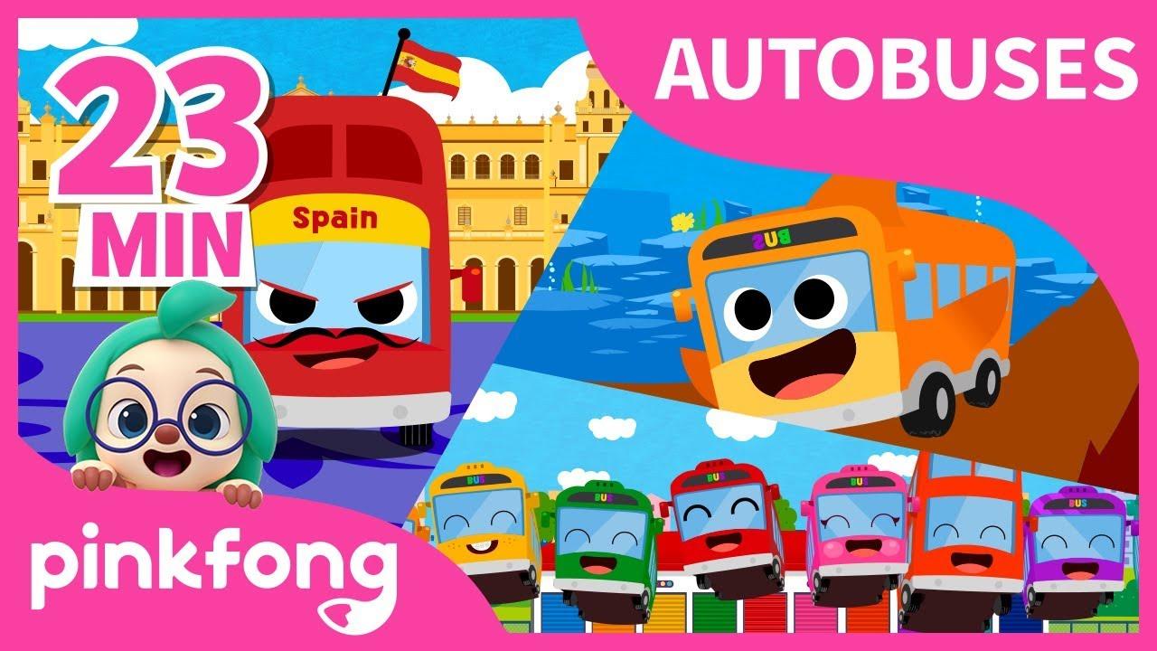 Las Mejores Canciones de Autobuses   +Recopilación   Pinkfong Canciones Infantiles
