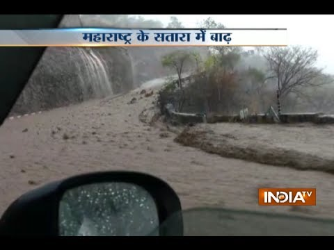 Heavy rains lead to floods in Khambatki Ghat on Pune Satara road