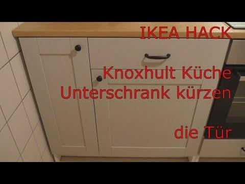 IKEA HACK Knoxhult Küche Unterschrank kürzen die Tür