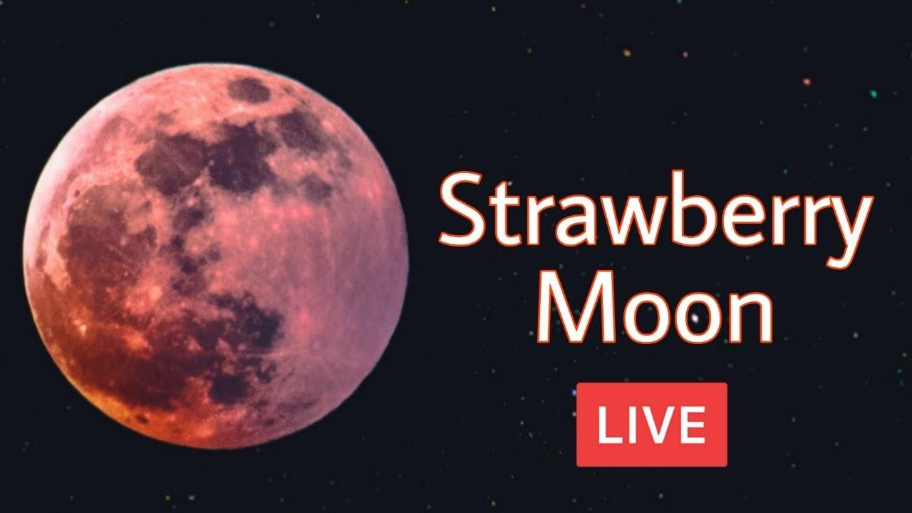 Strawberry moon 2021 Live | Strawberry moon LIVE #StrawberryMoon #StrawberryMoon2021