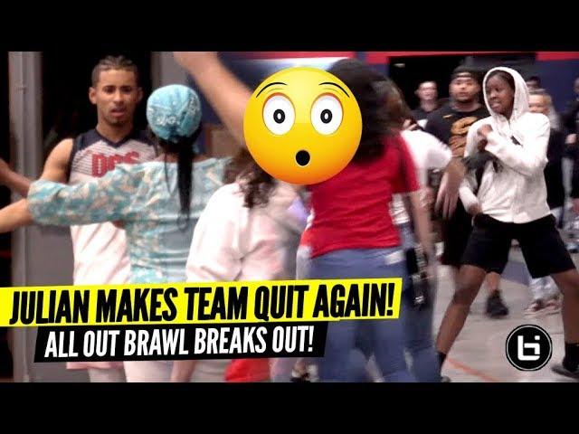 Julian Newman macht Team wieder aufhören und alles bricht aus BRAWL bricht aus! WTF! video