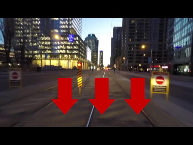 The TTC plans to install a gate at the entrance of the Bay St. streetcar tunnel, as existing measures have failed to prevent drivers from entering it illegally. Here are all the signs some drivers have so far ignored.