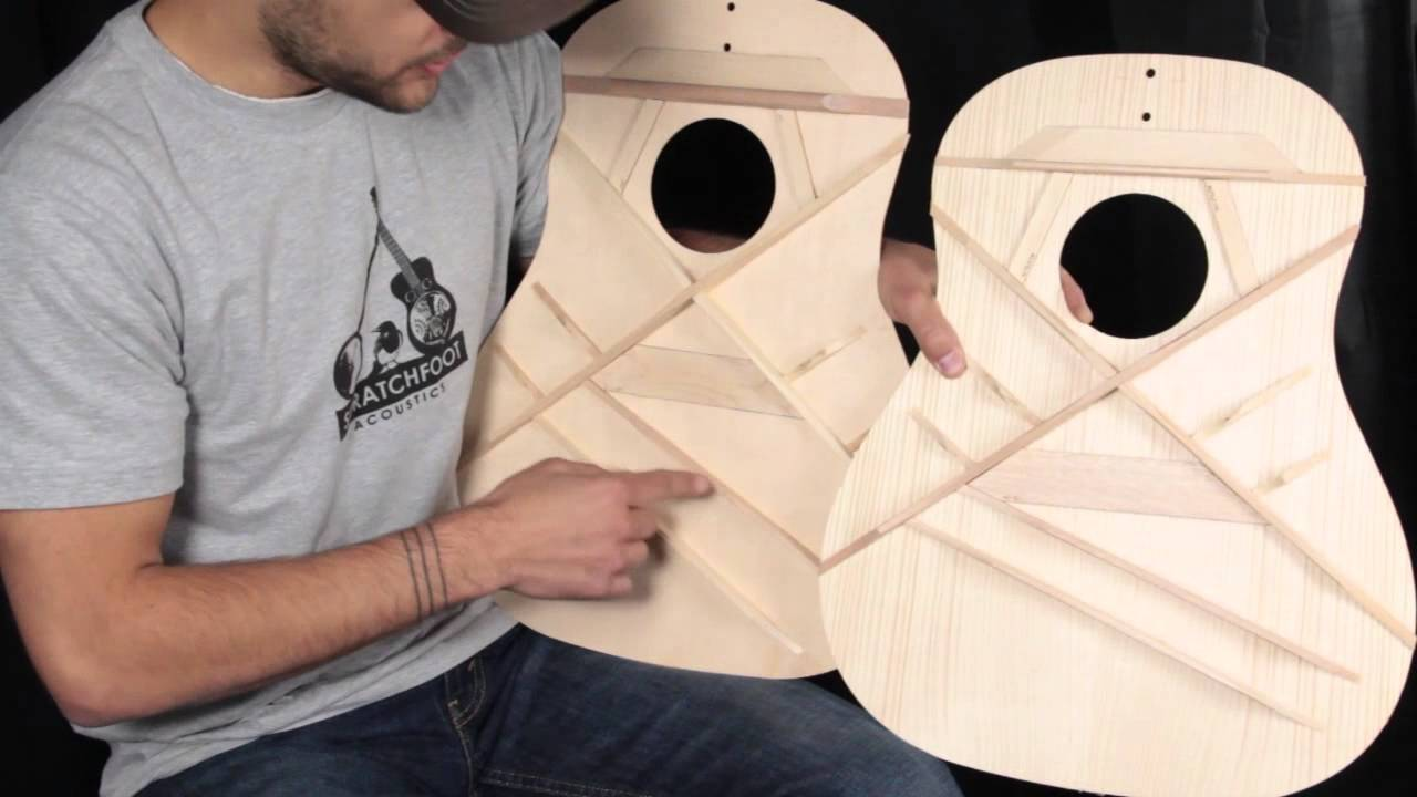 hight resolution of gibson acoustic bracing pattern overview