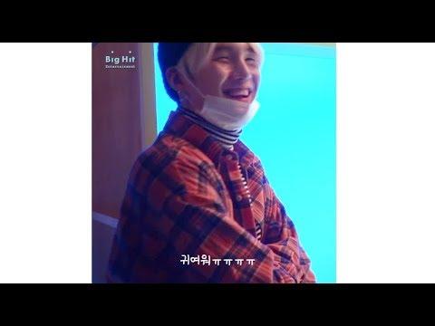 호비 데이드림 응원 간 사복 민윤기 (그의 츤데레력..) + 호비와 츄러스