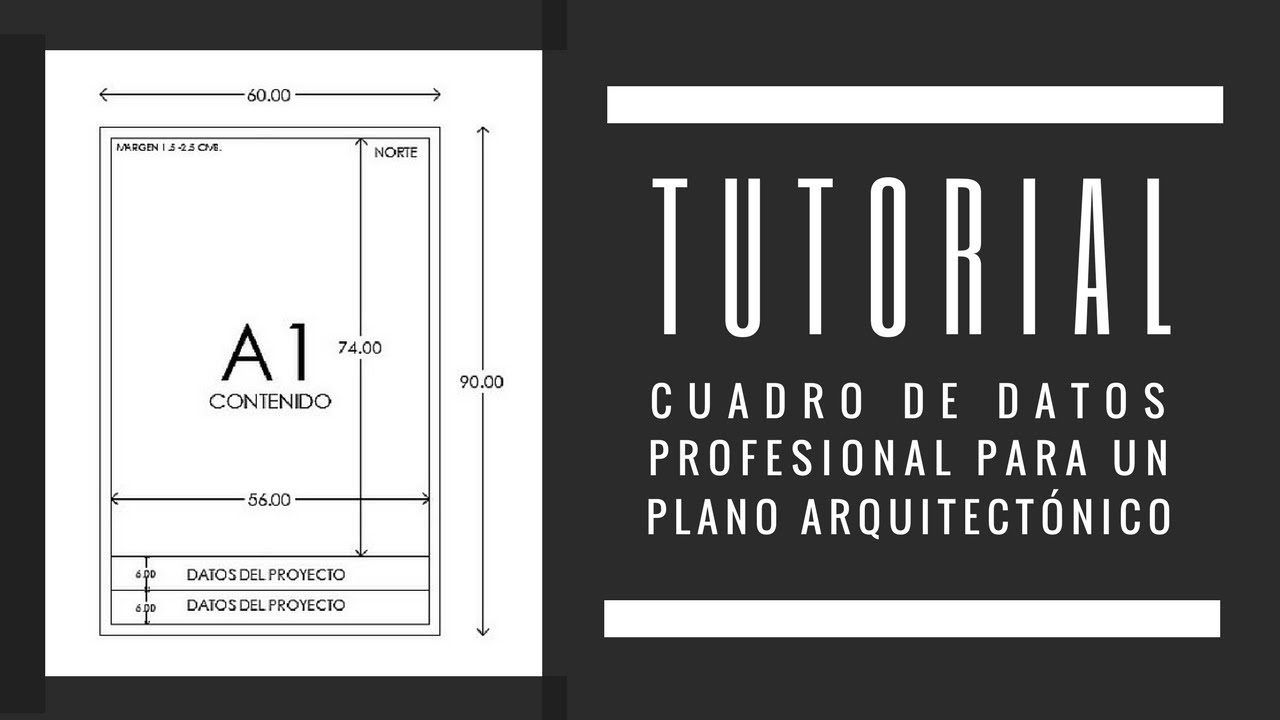 Tutorial cuadro de datos profesional para un plano for Pie de plano arquitectonico pdf