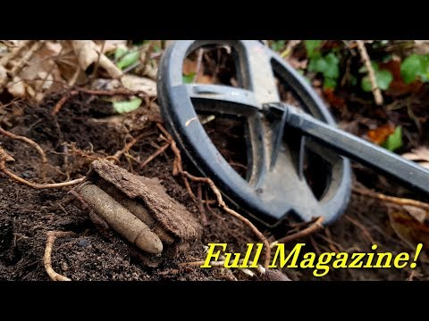 Metal Detecting WW2 and Older - M1 Carbine Magazine found - AMAZING Medieval Cross!