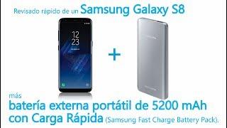 Prueba rápida de Galaxy S8 con batería portátil con Carga Rápida (Samsung Fast Charge Battery Pack)