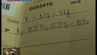 24Oras: Jeepney driver, nagsauli ng pouch na may P1 milyon tseke