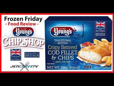 FROZEN FRIDAY - Young's Crispy Battered Fish And Chips Taste Test Review | JKMCraveTV